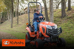 We work hard to provide you with an array of products. That's why we offer Kubota for your convenience.